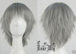 Wholesale Evangelion Wig - 100% Brand New High Quality Fashion Picture full lace wigs>>Neon Genesis Evangelion Nagisa Kaworu Short Grey Cosplay Party Wig + gift