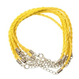Wholesale Hand Bracelet Thread - 3mm Hand-made Leather Braid Rope Hemp Cords Threads for DIY Necklace Bracelets Making