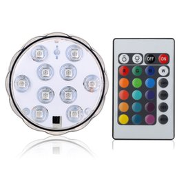 Wholesale Led Color Changing Strip - LED Flower vase light fish tank submersible light remote control RGB color changing underwater light for night bar home decoration