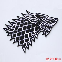Wholesale Badges Games - Game of Thrones Stark Direwolf Embroidered Iron-on Badge Patch