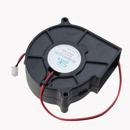 Wholesale Dc Brushless Blower - Wholesale- 1pcs GDT DC 2Pin 7CM 75X30MM 70MM Brushless Cooling Blower Fan 24 Volt