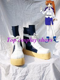 Wholesale Lyrical Costumes - Wholesale-Freeshipping anime Magical Girl Lyrical Nanoha Nanoha Takamachi Cosplay Boots shoes custom-made for Halloween Christmas