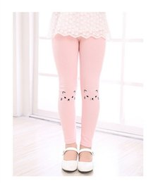 Wholesale Thick Cotton Tights Girls - Children Trousers New Korean Baby Girls Printed Leggings Cat Panty Thick Autumn Keep Warm Children Leggings Panty