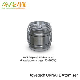 Wholesale Best Joyetech Wholesale - Joyetech Ornate Atomizer MGS Series Head 0.15ohm MGS Triple Coil Head Best Taste 100-160w Rated Power Ranger 70-260w