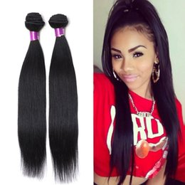 Wholesale Hair Extension Indian Black Straight - brazilian straight Human hair Extensions virgin Brazilian hair bundles natural black brazilian virgin hair straight weaves straight