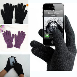 Wholesale Gloves For Iphone - Warm Winter Full fingerc Touch Screen Gloves Multi Purpose Unisex Capacitive Gloves Fashion Christmas Gift For iPhone iPad Smart Phone