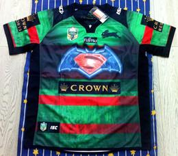 Transferencia de camisetas online-¡Envío gratis! NRL Liga de rugby nacional South Sydney Rabbitoh 2nd jersey jersey de alta temperatura de transferencia de calor jersey de rugby