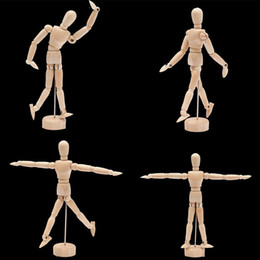 Wholesale Mannequin Unisex - 4.5'' 5.5'' Drawing Model Wooden Human Male Manikin Jointed Mannequin Puppet