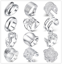Wholesale Top China Wholesale Fashion Jewelry - Mixed style 925 sterling silver finger ring fashion unisex jewelry beautiful cute street style Top Quality Free Shipping