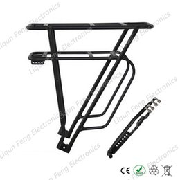 Wholesale Bike E Seat - Electric bicycle E-bike Rear Seat Aluminum Alloy Fixed After the Hanger and Thick Hanger style Lithium ion Battery Black Silver