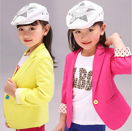 Wholesale Trench Coat Girl Sale - Girls Jacket Children's Clothing Kids Spring & Autumn Child Coat 2016 Baby Clothes Blazers Outerwear Girl Trench Coat Hot Sales