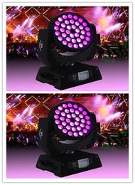 Wholesale Moving Head Zoom - 2pc lot wash led moving head light 36*15w rgbwa+uv 6 in 1 zoom moving head light