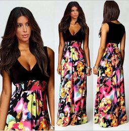 Wholesale Girls Hot Night Dresses - Wholesale- 2015 Hot Sale Pretty Girls Fashion Printing Dress For Women Summer Style Plus Size Breathable Long Dress Vestido Renda