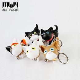 Modèles enfants modèles de filles noires en Ligne-Cartoon Kitty Car Bag Porte-clés Cat Kitten Porte-clés Multicolore Chats Modèle Porte-clés Sacs à main Pendentif Filles Enfants Noir Blanc