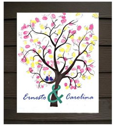 Wholesale Wedding Guestbook Tree Fingerprint - S L Wedding Fingerprint Tree Wedding Guest Book Tree Unique Signature Guestbook Alternative Wedding Decorations Customize Mariage Supplies