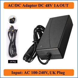 2019 ac dc netzadapter 48v 48V 1A AC DC Adapter UK Stecker AC 100-240V Konverter Adapter zu DC 48V 1A 48W LED Netzteil Ladegerät für LED Lichtleiste günstig ac dc netzadapter 48v