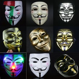 Wholesale Vendetta Party Masks - 2016 New V for Vendetta Party Masks Anonymous Fancy Dress Fancy Cosplay Carnival Costumes Party Supplies