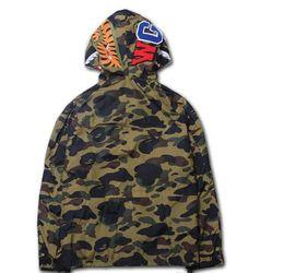 Wholesale New Cotton Camo Jacket - New swag clothing KANYE WEST jacket hoodies Camouflage camo Shark men tour windbreaker coat Outerwear MA1