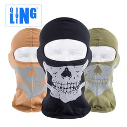 Wholesale Head Covers Beanies - Long Lin sports CS head pure cotton reflective cover ghost mission call outdoor sunscreen riding Skull Mask
