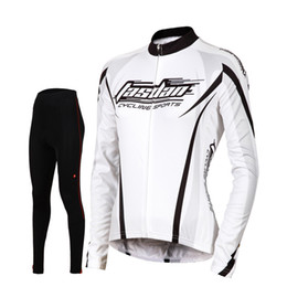 Wholesale Fashionable Women S Suits - Tasdan Sports Top Cycling Jerseys Set Long Sleeve Jersey and Black Pants Fashionable Compressed MTB Youth Cycling Suit