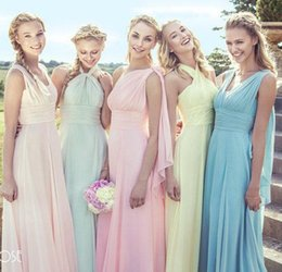 Wholesale Olive Varieties - New Chiffon Variety to wear Convertible Dress long bridesmaid dresses wedding dress Prom party dress women