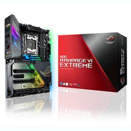 Wholesale Pci Lighting - ASUS ROG RAMPAGE VI EXTREME LGA2066 DDR4 M.2 U.2 X299, 802.11AD WiGig WiFi, USB 3.1, AURA Sync RGB Lighting
