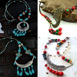 Wholesale Discount Jewelry China - Discount DHL Shipping & Wholesale Characteristic Ethnic Necklaces Jewelry Handmade Knitting Nationality Features Necklaces 140217-18GR1