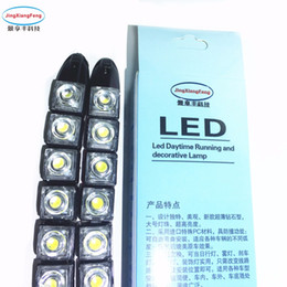 Wholesale Day Light Drl - 2pcs Strip shape COB Bendable Daytime Running light 100% Waterproof COB Day Lights flexi 10 LED Car DRL
