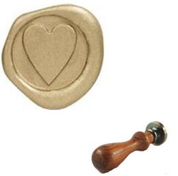Wholesale Heart Shape Invitation - Vintage Custom Design Heart Shape Wedding Invitation Wax Seal Stamp Set
