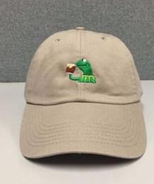 Wholesale Business Hats - KERMIT TEA Hat (slide buckle) none of my business emoji king lebron james meme Kanye West pablo bear dad cap 6 panel polos cap