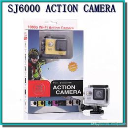 Wholesale Gopro Full Hd - wholesale SJ6000 WiFi Action Camera +2 Batterys Gopro Style Sport Camera 2.0 Screen 1080P Full HD Helmet Camcorder 30M Diving Video Camera