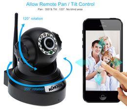 Wholesale Ip Camera Pnp - New CCTV Surveillance Cameras KKMOON HD 0.3MP IP Camera PnP P2P Pan Tilt IR Cut WiFi Wireless Network Security IP Webcam
