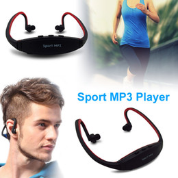 Wholesale Headset Sport Sd - Portable Wireless Headphones Sport MP3 Player Earphones Headset Music Player Support Micro SD TF Card FM Radio for Gym Running