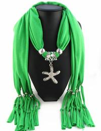 Wholesale Cheap Starfish - Newest Cheap Fashion Women Scarf Direct Factory Crystal Jewelry Starfish Scarves Women Fake Crystal Starfish Scarves
