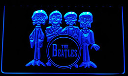 Wholesale Neon Sign Bands - LS076-b The Beatles Drum Band Bar Neon Light Sign