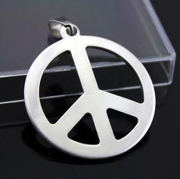 paz de guerra Desconto Moda colares Paz Anti Guerra Pingente de Aço Inoxidável 316L pingente de colar de Charme mulheres homens jóias