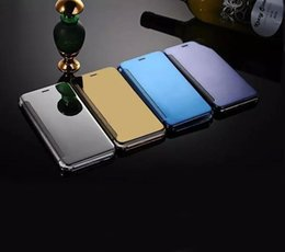 Wholesale Clear Flip Case For 5s - Mirror View Clear Flip Case Cover(Hyperbolic Mirror) For iphone 5s SE 6 6s Plus 7 Plus And Samsung Galaxy s7 s7 edge s6 s6 edge Note 7 Case