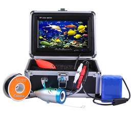 "Wholesale Cable Underwater Fish Camera - 7"" Color LCD 700tvl Waterproof 30m Cable 4000mah Rechargeable Battery Fish Finder Underwater Fishing Video Camera with Carry Case"