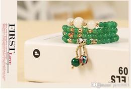 Wholesale White Chalcedony Beads - White Chalcedony bead bracelet women bracelet pulseras mujer stone crystal