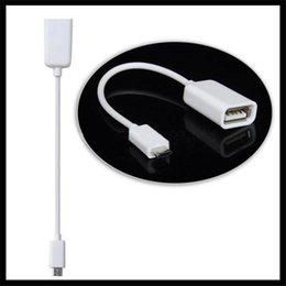 Wholesale Usb Otg Galaxy S3 - High Quality Micro USB OTG Cable for Samsung Galaxy S2 S3 S4 i9500 i9300 i9100 Note N7000 i9220 OTG Cable Adapter Black white 1000pcs lot