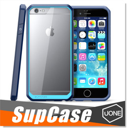 Wholesale Bumper Iphone Retail - SUPCASE For iPhone 7 Hybrid Transparent Hard Back Colorful Bumper Case TPU PC Case For iPhone 6 7 Plus Samsung Note 5 With Retail Package
