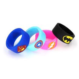 Flash de vapeur en Ligne-Superman / Flash / Captain America / Bague en silicone pour vape Batman 18.5 * 12mm mod mécanique bague de protection bande de vapeur pour RDA RBA
