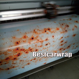 Wholesale Vinyl Wrap Prints - Matte Rust Vinyl Car Wrap Film Rust Printed stickers for Car wrapping Vehicle & Boat Decocation Graphics covering skin 1.52x30m Roll 5x98ft