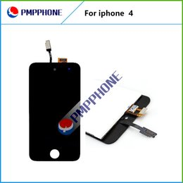 Wholesale Iphone Digitizer Pcs - 20 pcs lot Fast shipping LCD Display with Glass Touch Screen Digitizer Replacement For iPhone 4 4G