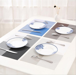 Wholesale Pets Recycling - 45*30 cm Modern PVC Dining Table Placemat Europe Style Kitchen Tool Tableware Pad coasters waterproof table cloth pad slip-resistant pad