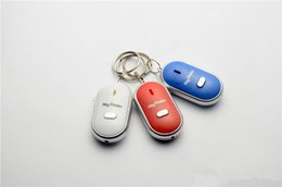 Wholesale Whistle Finder - Hot Sale LED Key Finder Locator Find Lost Keys Chain Keychain Whistle Sound Control+free shipping