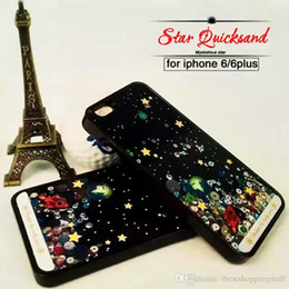 Wholesale I5 5s Phone Cover - New Back Cover For iphone6 Plus 5 5S Phone Cases 5S for Apple iphone 6 Case 4.7 Liquid Glitter Bling Star Sky Quicksand i5 i6 6P