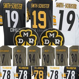 Wholesale L S Girl - 19 Juju Smith-Schuster Jersey 78 Alejandro Villanueva 30 James Conner Brown Roethlisberger 2017 salute to service limlted Jerseys