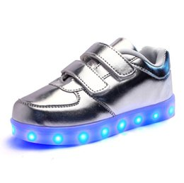Wholesale Elegant Girls Shoes - 2016 New European Cool Fashion Lighted up LED kids sneakers Elegant Lovely baby boys girls shoes cool children boots LED Luminous Shoes