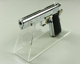 Wholesale Plastic Model Display Stand - 2pcs free shipping pistols display stand gun display holder fashion Acrylic phone Sneakers Sandal shoes display rack for gun model